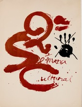 安东尼•塔皮埃斯 - 版画 - Antoni Tàpies - Litografía 2a Setmana Cultural d Matarò 1973
