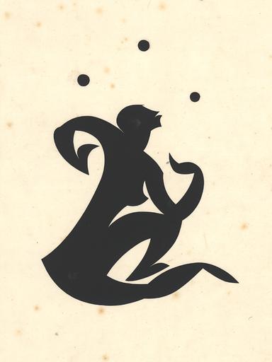 Ernst Moritz ENGERT - Disegno Acquarello - Artistin, mit drei Bällen jonglierend, 1914.