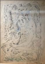 René PORTOCARRERO - Dibujo Acuarela - Woman