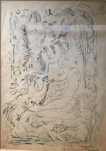 René PORTOCARRERO - Dessin-Aquarelle - Woman