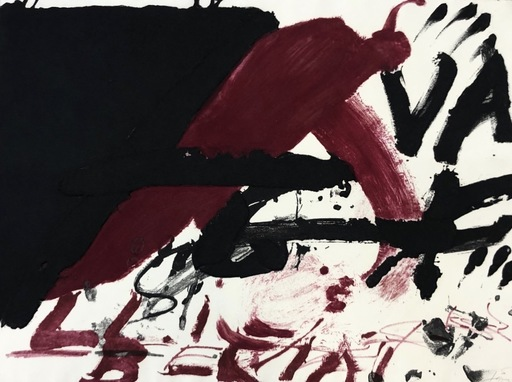 Antoni TAPIES - Stampa-Multiplo - Negre i roig serie