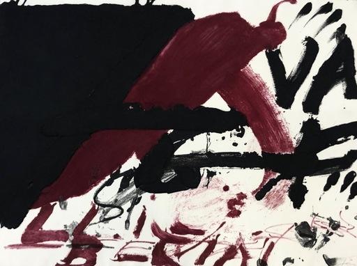 Antoni TAPIES - Druckgrafik-Multiple - Negre i roig serie