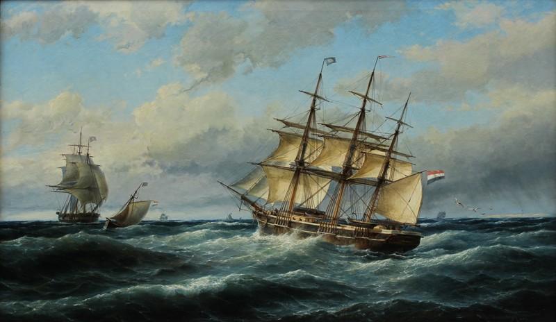Cornelis Christiaan DOMMELSHUIZEN - Peinture - MARINE A TEXEL