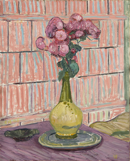 Cuno AMIET - Painting - Les roses rouges