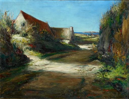 Georges Hanna SABBAGH - Painting - le chemin de TREGASTEL en BRETAGNE