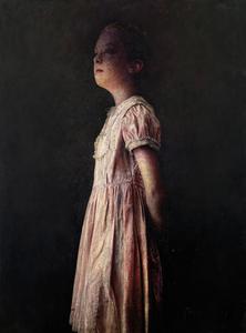 Marcos REY - Painting - Niña con vestido