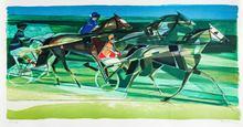 Camille HILAIRE - Grabado - Horse Racing