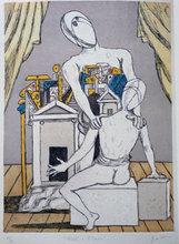 Giorgio DE CHIRICO - Grabado - Oreste e Pilade 1970