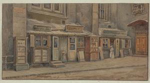 Rudolf SCHIMA - Drawing-Watercolor - Old Vienna, 1910s, Watercolor