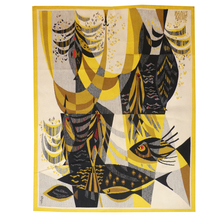 Maurice ANDRÉ - Tapestry - Poissons noirs