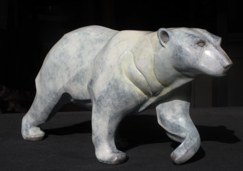 Chantal PORRAS - Skulptur Volumen - Ours polaire
