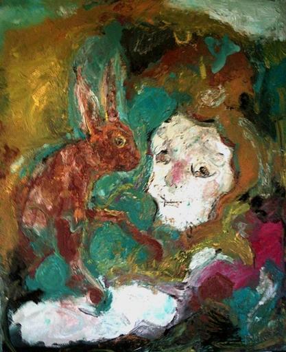 Bernard MOREL - Painting - HOMMAGE(à Paul Rebeyrolle)