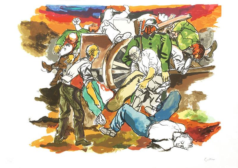 Renato GUTTUSO - 版画 -  Addio alle Armi Omaggio a Hemingway_4
