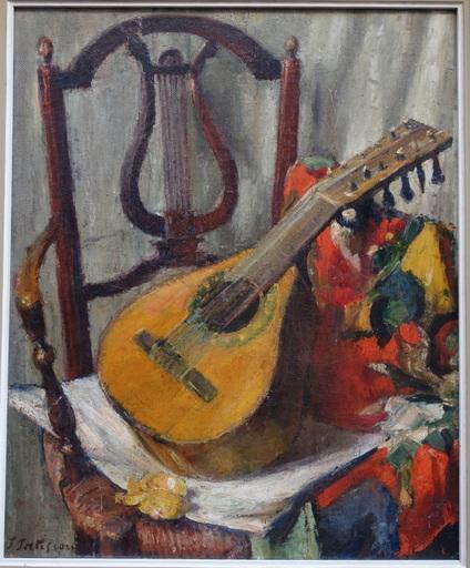 """Jacques PATISSOU - Painting - """"Nature morte a la Mandoline"""""""