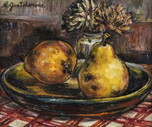 Nathalie GONTCHAROVA - Painting - Still Life with Pears
