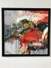 Bernard CADENE - Painting - Christina et le village perché