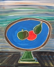 Christian DURIAUD - Painting - Les 3 fruits