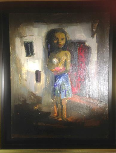 Antonio URIA MONZON - Peinture - ENFANT A LA POUPEE