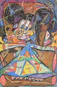 Michael CHANGNON - Disegno Acquarello - Michael Changnon Pastel, Original Work