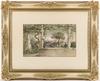 "Anton PERKO - Zeichnung Aquarell -  ""View of the Gulf of Naples"", Watercolour, 1903"