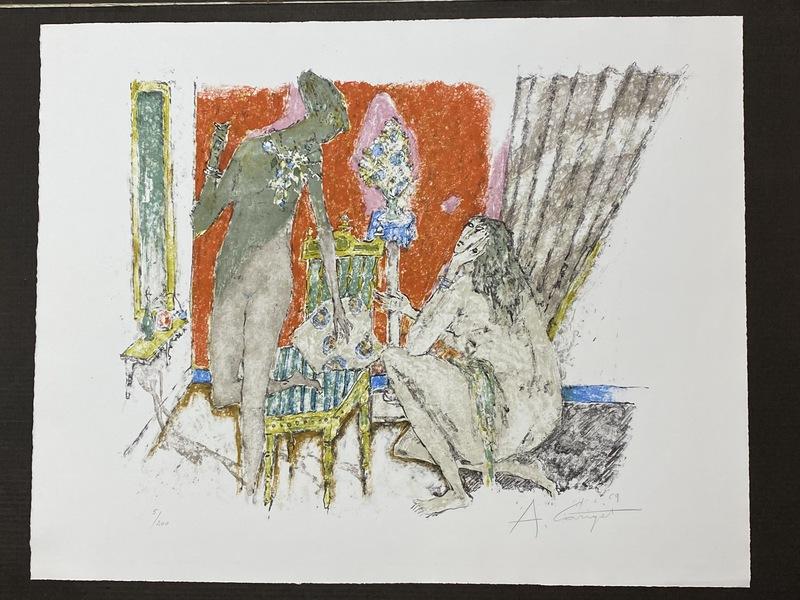 Alois CARIGIET - Print-Multiple - Three Ladies