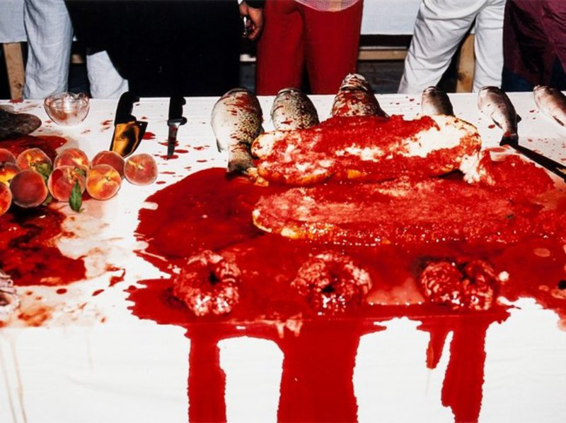 Hermann NITSCH - Photography - Performance 2003
