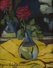 Suzanne VALADON - Pittura - La rose au miroir