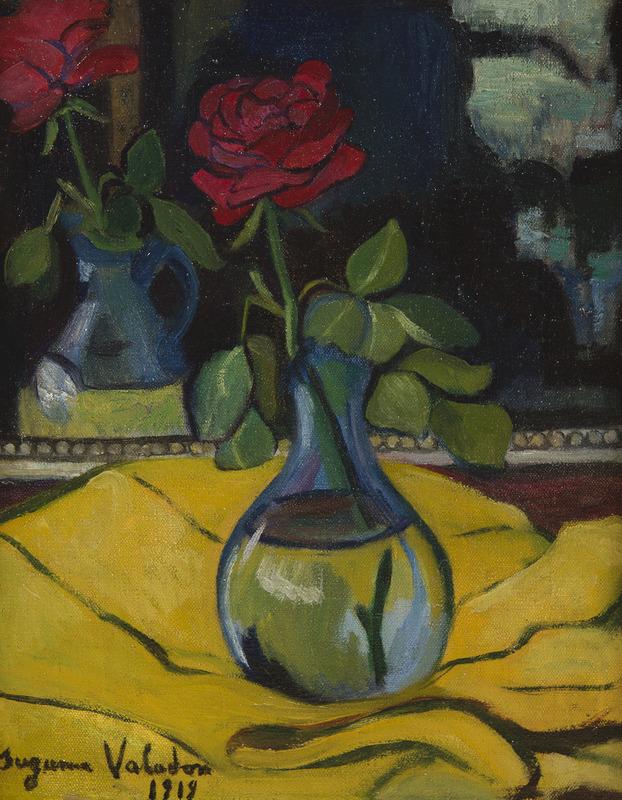Suzanne VALADON - Peinture - La rose au miroir