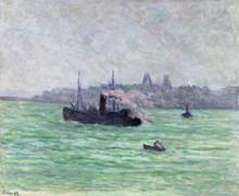 Maximilien LUCE (1858-1941) - Remorqueur au large du Tréport