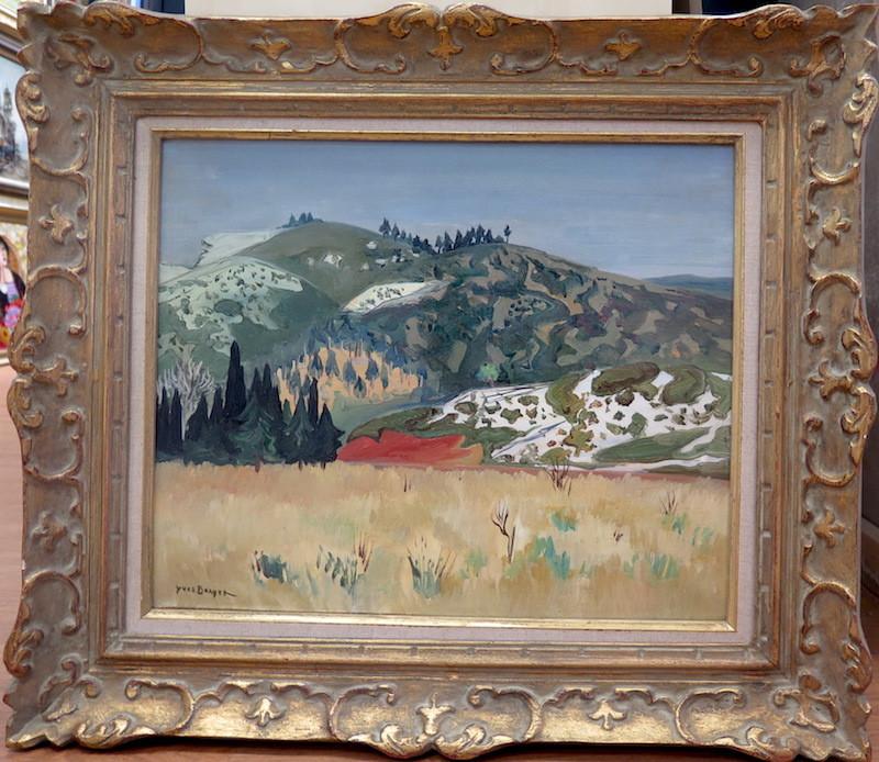 Yves BRAYER - Painting - Paysage des Alpilles