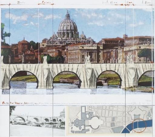 CHRISTO - Estampe-Multiple - Wrapped Ponte Sant Angelo