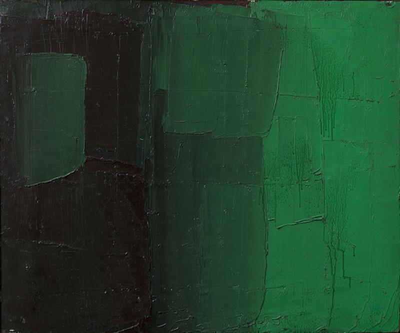 Alfredo CHIGHINE - Peinture - Verde e viola