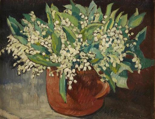 Louis VALTAT - Peinture - Vase de Muguet