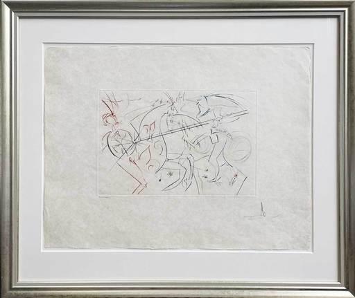 萨尔瓦多·达利 - 版画 - Ritterkampf des Lanzelot