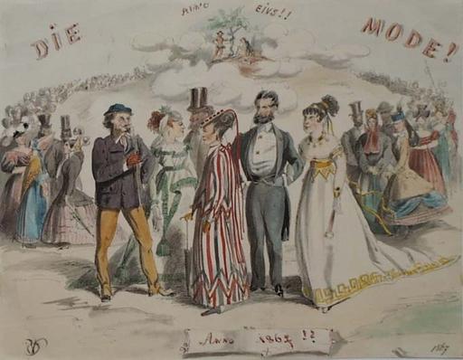 """Victor ODESCALCHI - Disegno Acquarello - """"Fashion of 1867"""" by Prince Victor Odescalchi"""