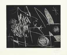 Joan MIRO - Print-Multiple - Serie Mallorca - Negro y blanco VII