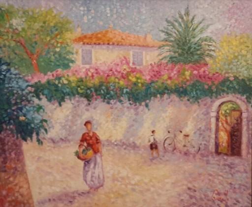 Jean VOLLET - Pintura - Panorama à Roquebrune Cap Martin