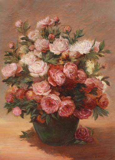 Achille Théodore CESBRON - Peinture - Bouquet