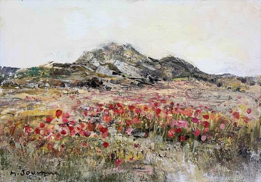 Michel JOUENNE - Peinture - Coquelicots des Alpilles
