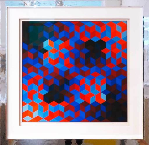 Victor VASARELY - Print-Multiple - Hommage a la Hexagone VI