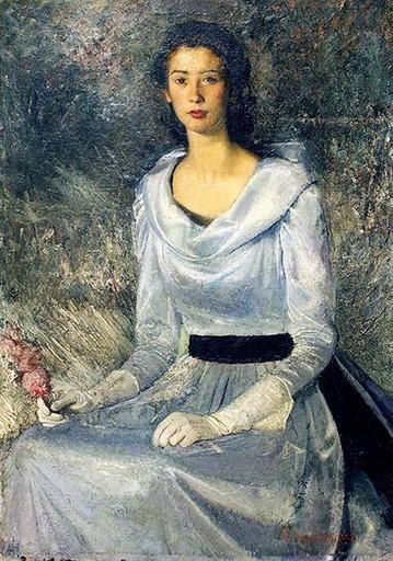 Pietro GAUDENZI - Pintura - Ritratto femminile