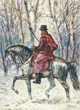 Giovan Francesco GONZAGA - Pintura - Buttero sulla neve