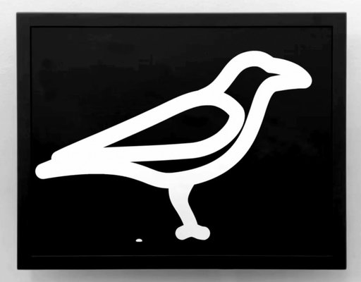 Julian OPIE - Audiovisuel-Multimedia - Crow excreting