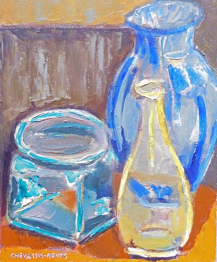 Jean-Pierre CHEVASSUS-AGNES - Peinture - flacons de verre