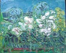André COTTAVOZ - Painting - Arbres en fleurs