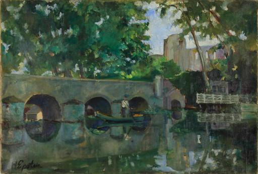 Henri EPSTEIN - Painting - River Landscape