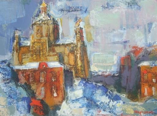 Borys BURYAK - Peinture - La Cathédrale St-Georges de Lviv (Ukraine)