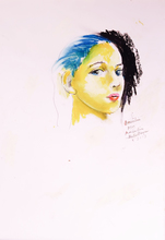 Martial RAYSSE - Drawing-Watercolor - Amandine