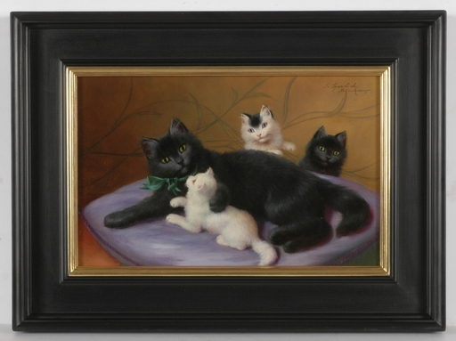 "Sophie SPERLICH - Gemälde - ""Happy Family"", Oil Painting"
