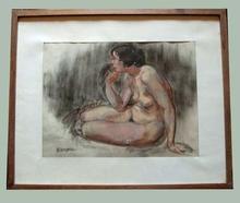 Charles KVAPIL - Painting - Nu